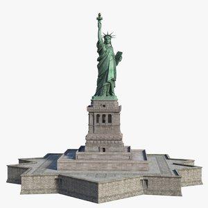 3D model statue liberty
