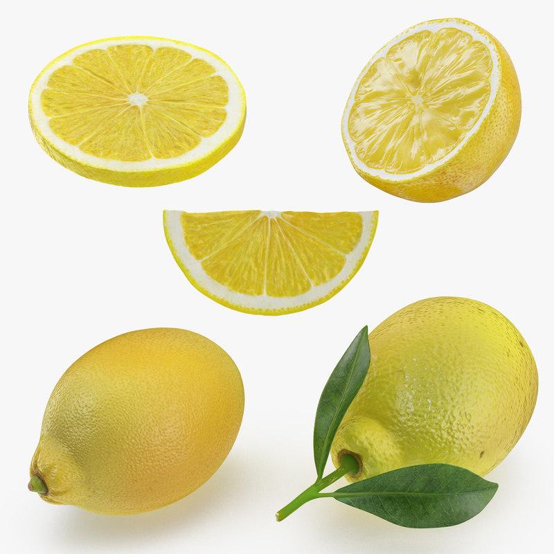 3D lemon 2 model