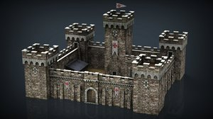 3D medieval fortress