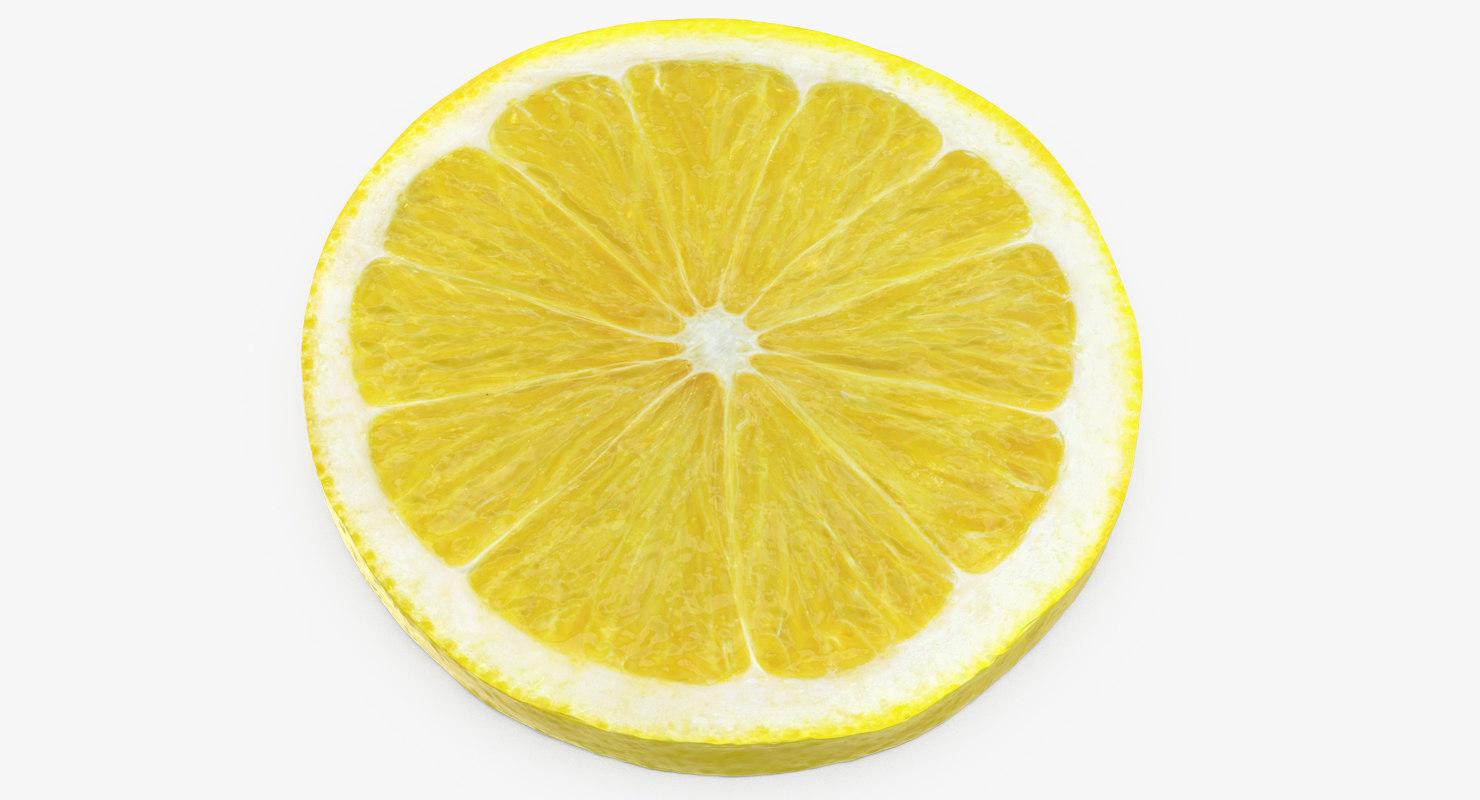 3d lemon slice turbosquid 1223905