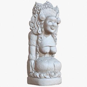 statue 1m raw scan 3D model