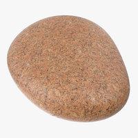 red granite stone model