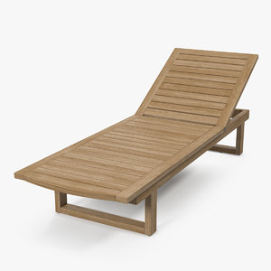 sun lounger brown 3D model