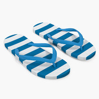 Unisex Blue and White Flip Flops
