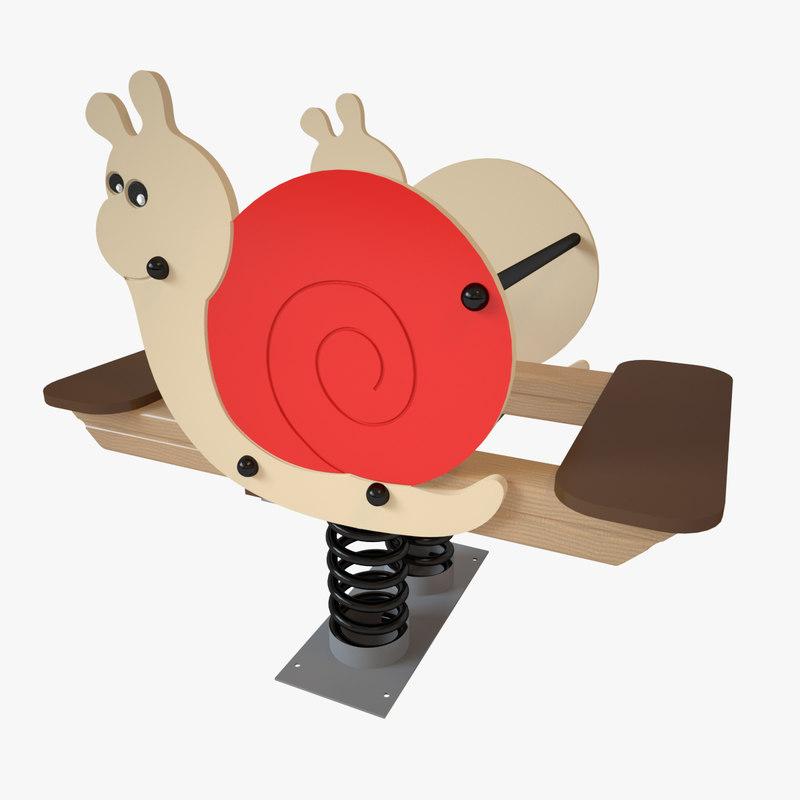 playground spring snail model