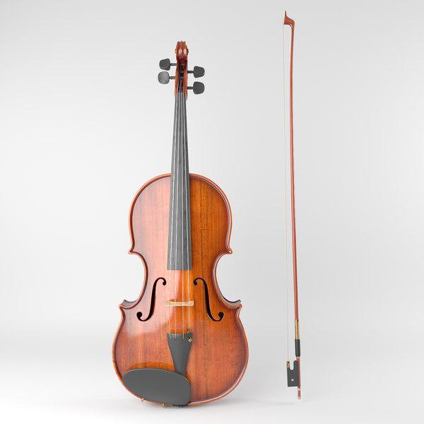 aged violin model
