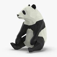 3D panda---sitting