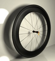 carbon wheel bicycle 3D model
