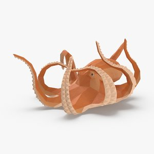 octopus---falling 3D model