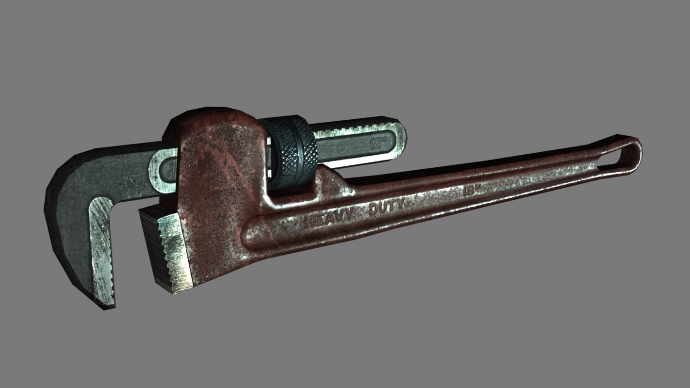 3D pipe wrench prop