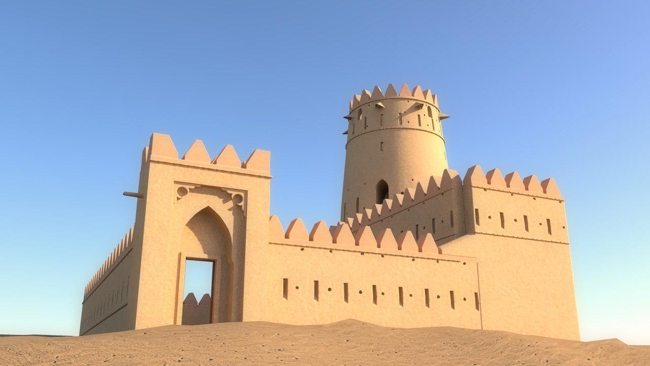 3D arab fort model