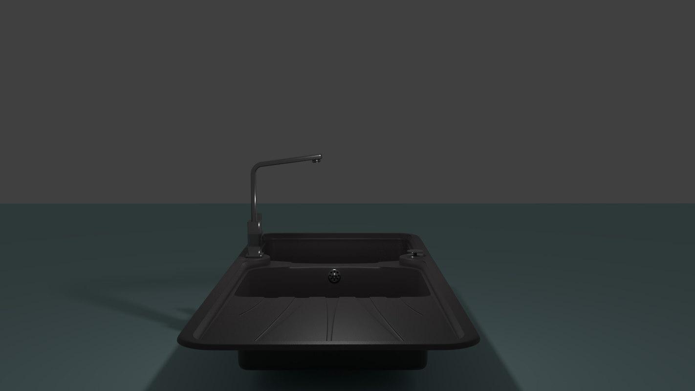 Sink Tap Modell : Free d model sink tap turbosquid