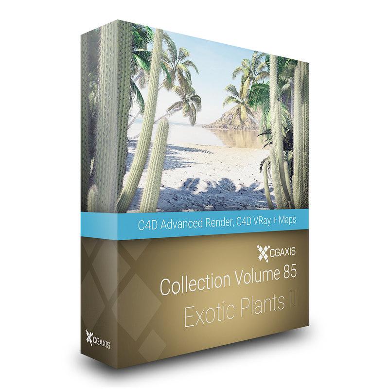 3D model volume 85 exotic plants