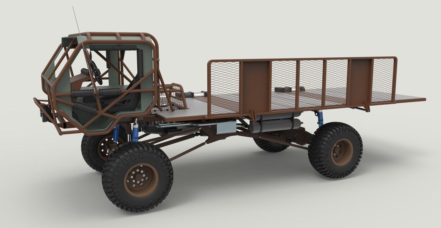 3D truck mongo model