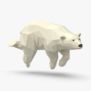 polar-bear---swimming 3D
