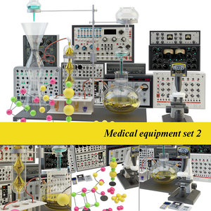 medical laboratory set 2 3D model