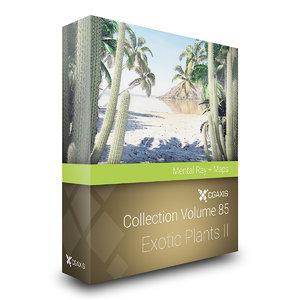 3D volume 85 exotic plants model