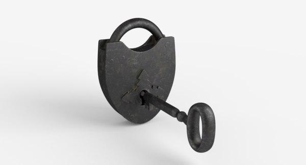 3D padlock