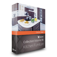 CGAxis Models Volume 86 Kitchen Furniture Corona