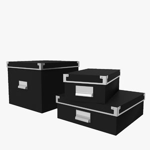 kassett storage boxes 3D model