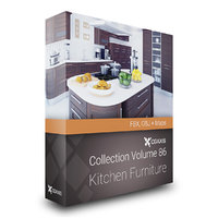 CGAxis Models Volume 86 Kitchen Furniture FBX OBJ