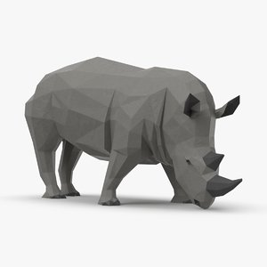 3D rhinoceros----eating