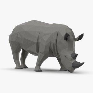3D rhinoceros----eating