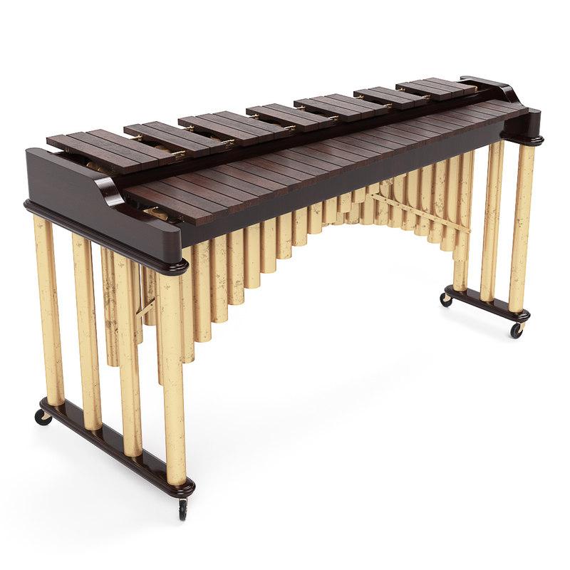 3D model marimba