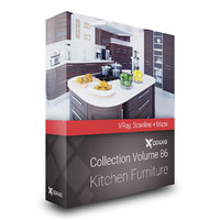 CGAxis Models Volume 86 Kitchen Furniture VRay