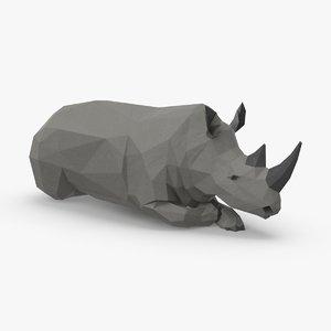 rhinoceros----lying 3D