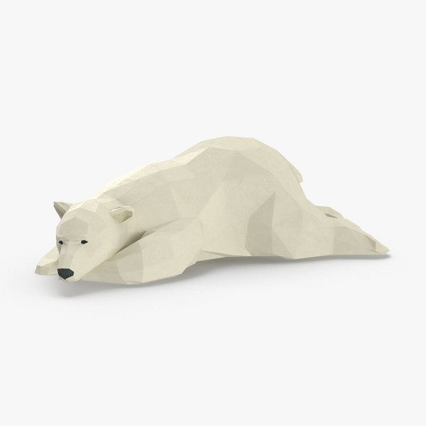 3D model polar-bear---lying