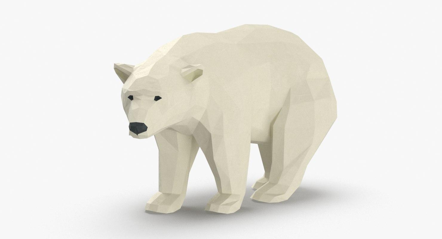 3D polar-bear---standing