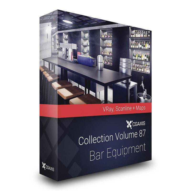 volume 87 bar equipment 3D model