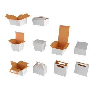 packaging mockups branding 3D model