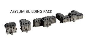 3D buildings pack asylums model