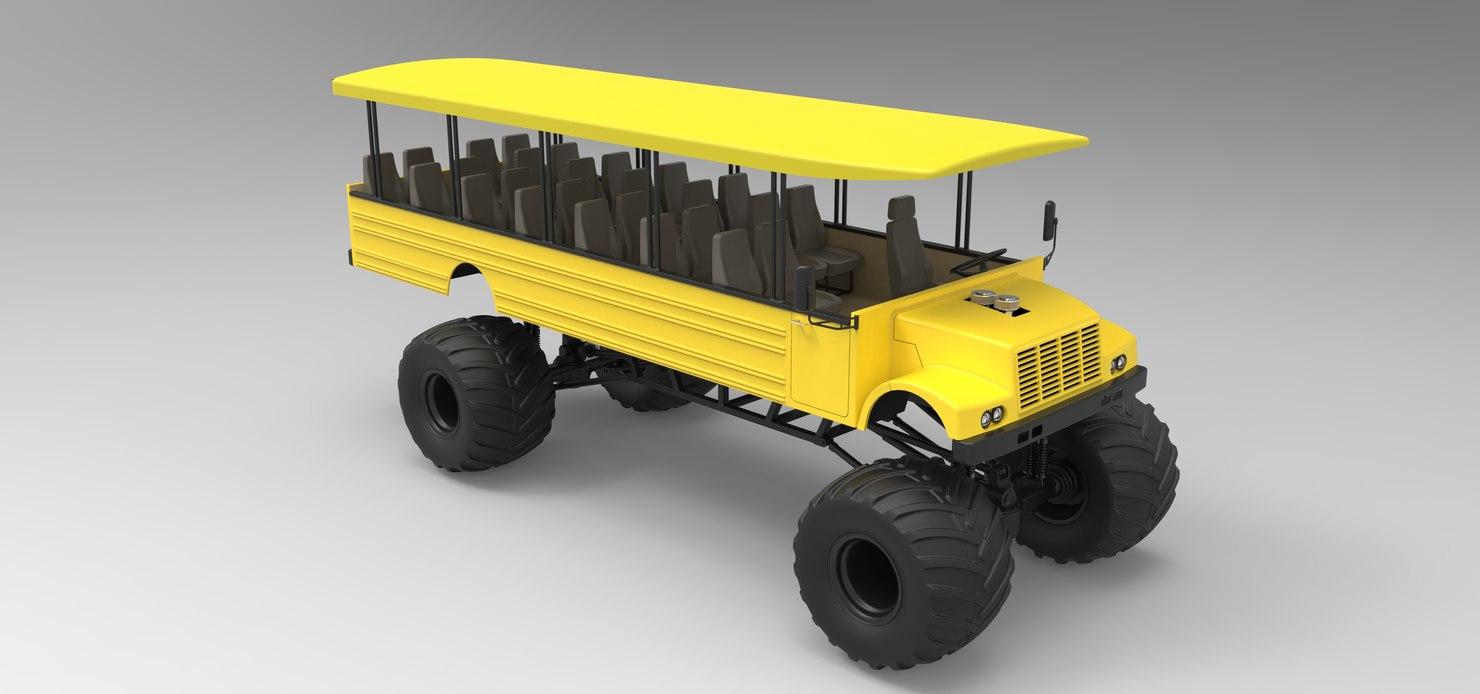 3D safari monster truck
