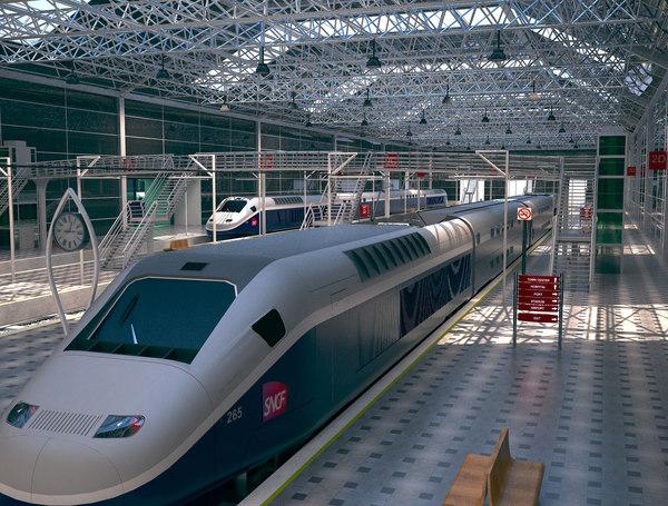 train station 3D