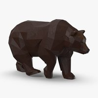 3D bear---walking