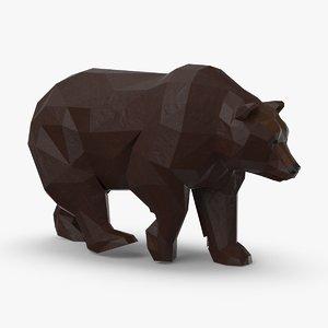 3D bear---walking