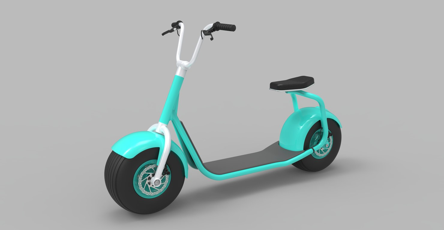 scrooser electric vehicle 3D model