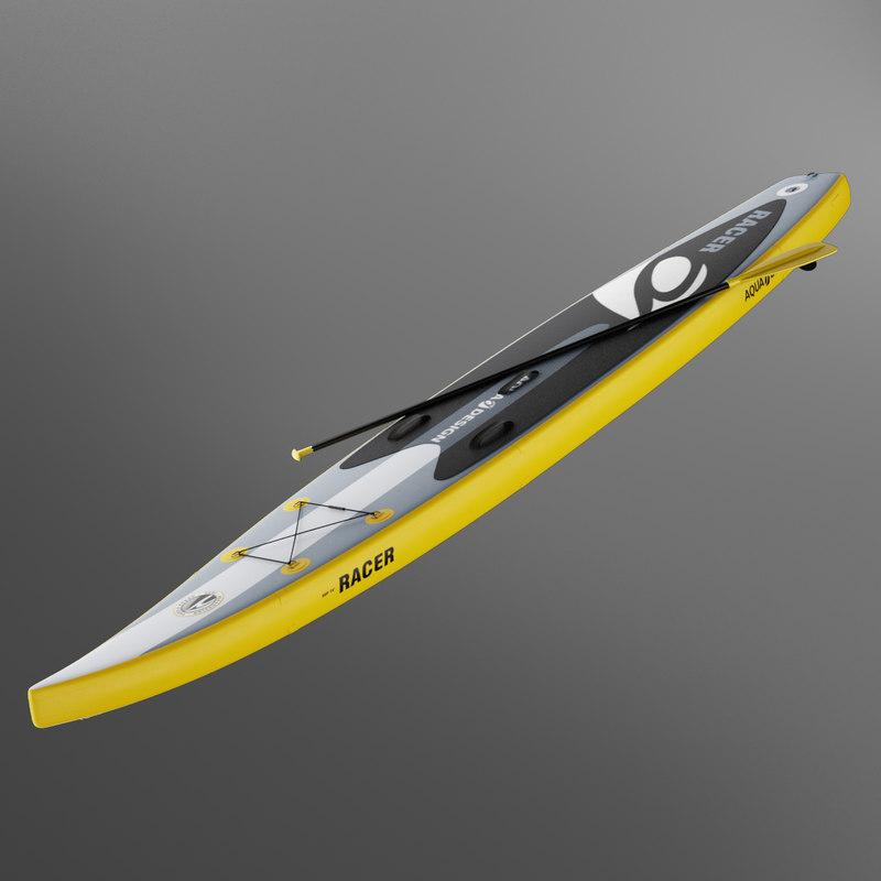 3D stand board racer aquadesign model