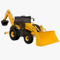 backhoe loader 2017 3D model