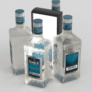 3D tequila olmeca alcohol