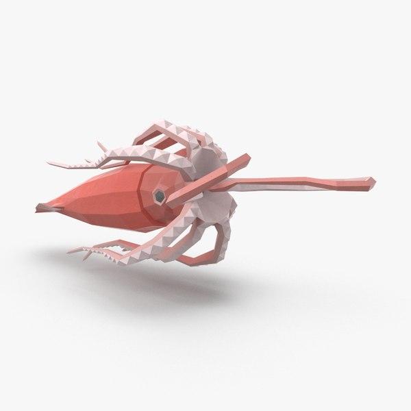 3D squid---eating