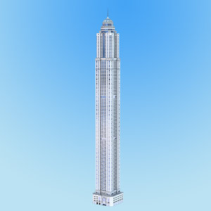3D princess tower residential building