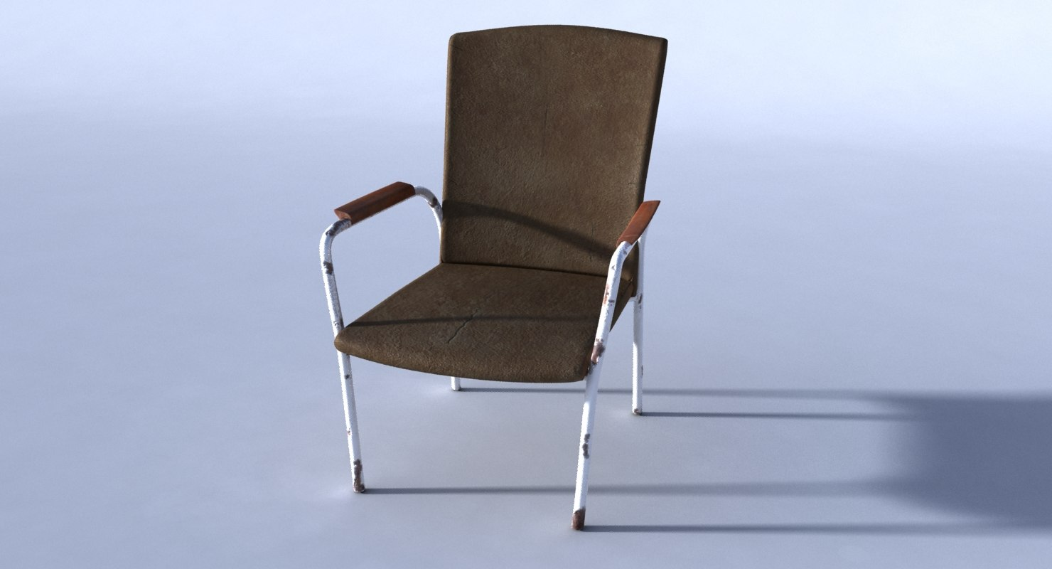 old rusted chair 3D model