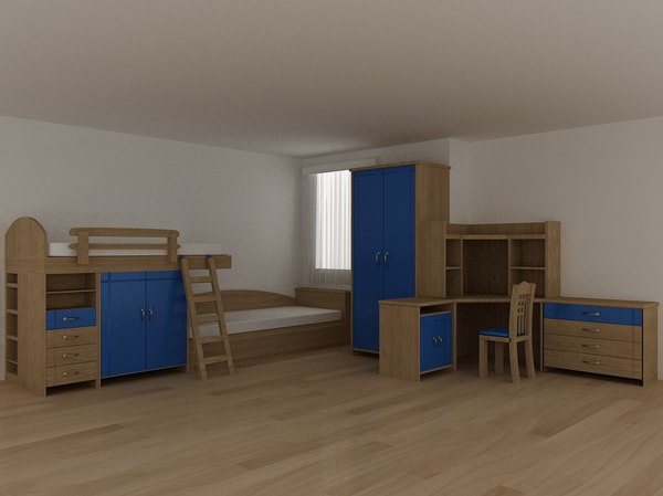 3D bed kids