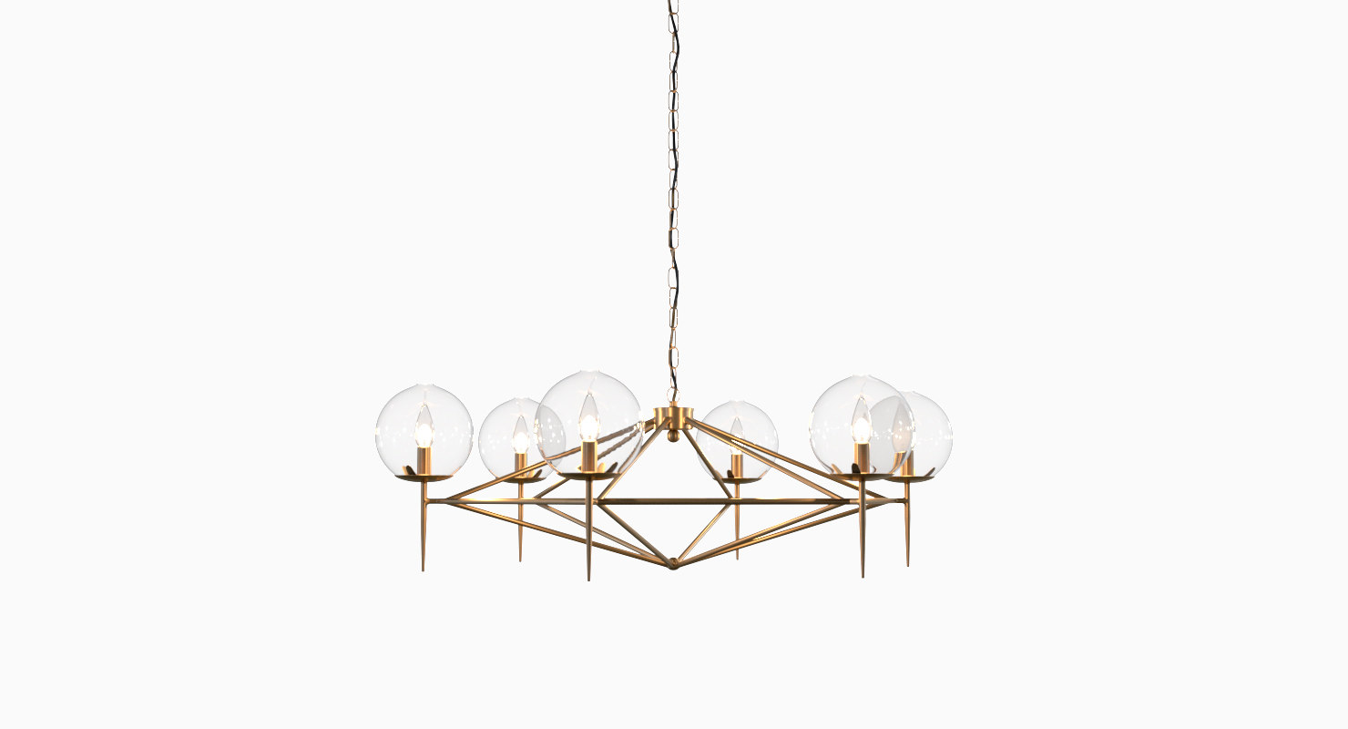 3D chandelier v-ray propping