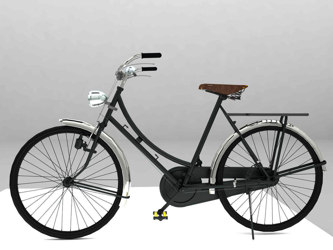 3D rare bicycle antique model