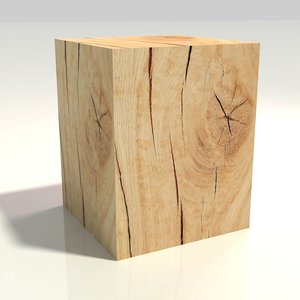 chopping block oak table 3D model